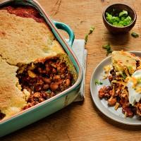Green Valley Two Bean Turkey Chili Tamale Pie Recipe