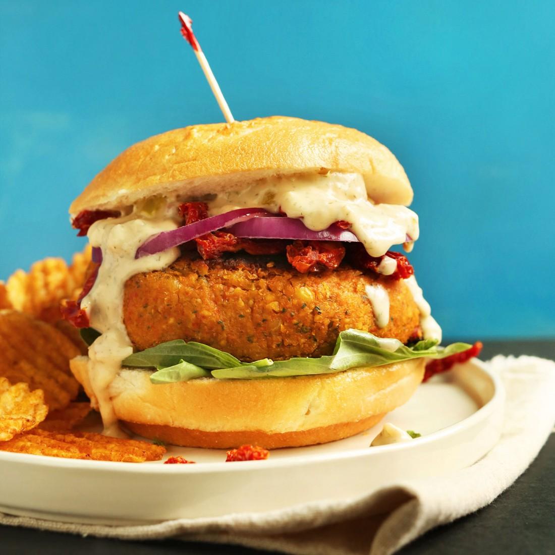 Sundried Tomato Chickpea Burger