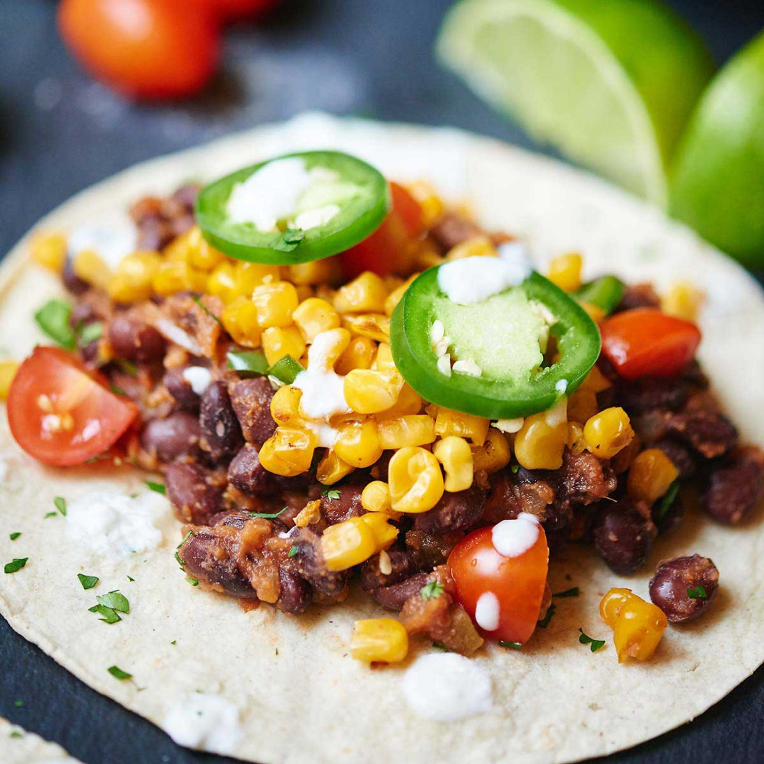 Black Bean and Roasted Corn Tacos