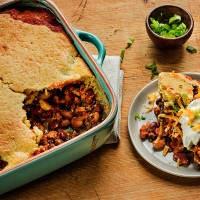Green Valley Two Bean Turkey Chili Tamale Pie Recipe