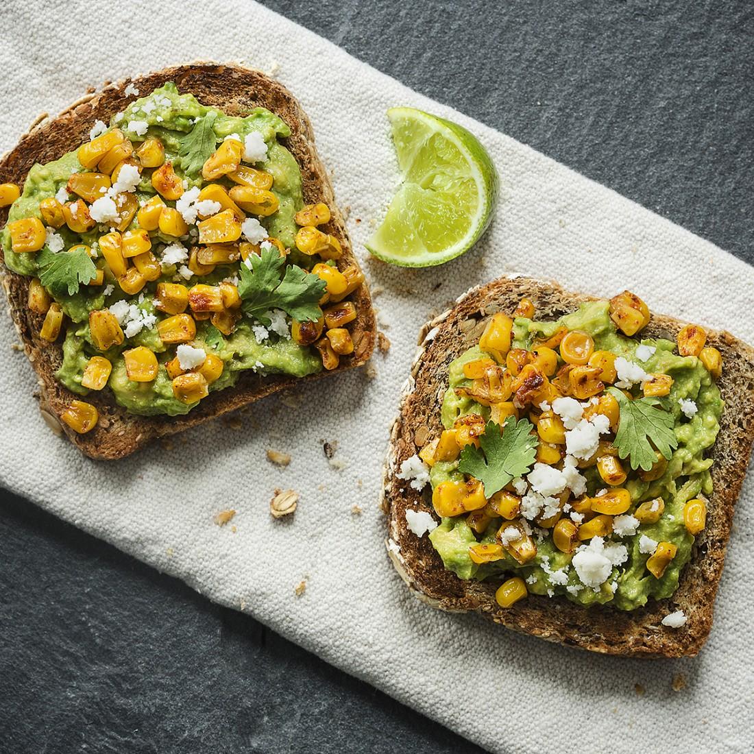 Avocado and Corn Toast