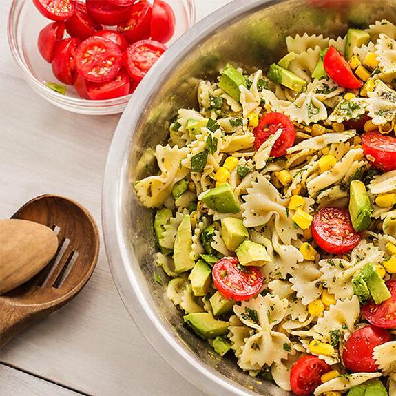 Avocado Pesto Pasta Salad