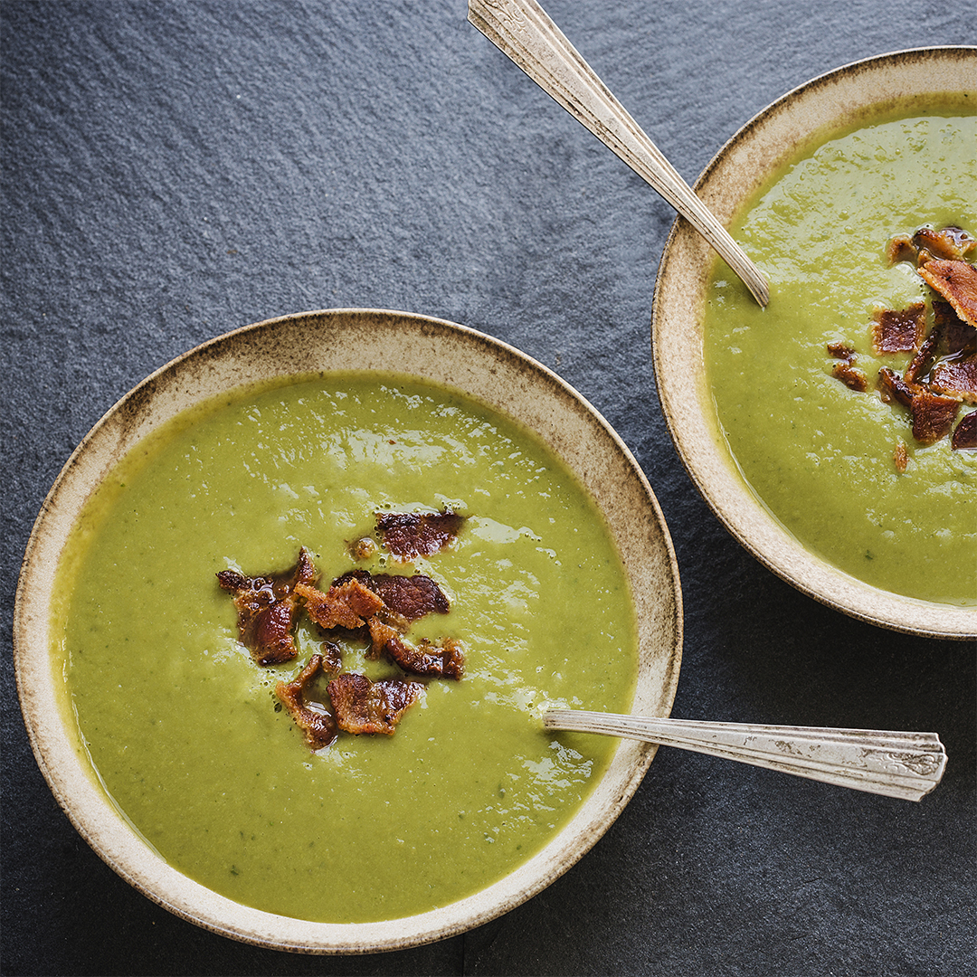 Pea & Parmesan Soup